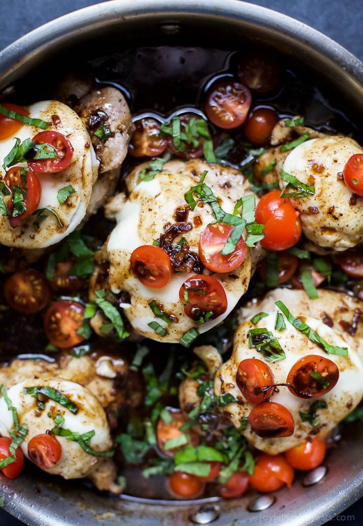 Balsamic Glazed Caprese Chicken | Easy Healthy Recipes Using Real Ingredients