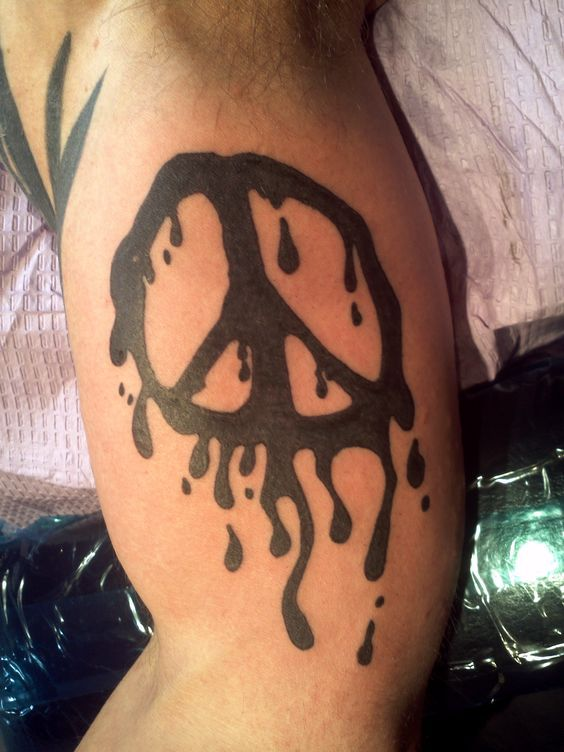 Melting Peace Sign peace signs peace sign tattoos and peace on ...