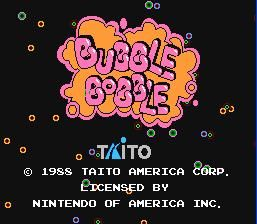 Bubble Bobble         1988 By: Taito America Corp.