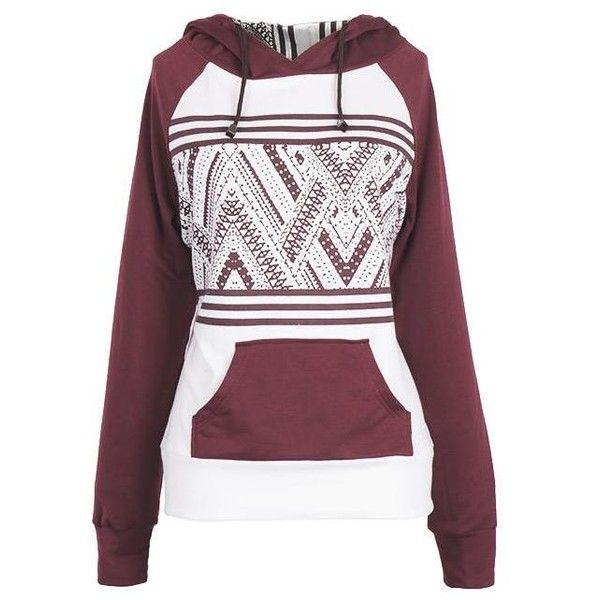 Cupshe Take Me Out Wine Hooded Sweatshirt ($29) ❤ liked on Polyvore featuring tops, hoodies, purple hoodies, cotton hooded sweatshirt, raglan top, hooded sweatshirt and sweatshirt hoodies