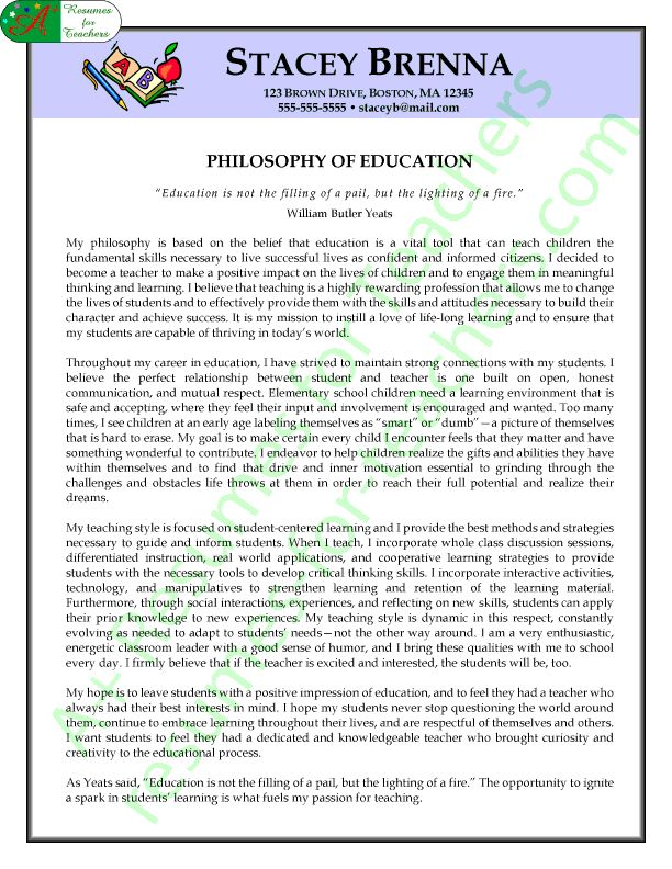 teaching philosophy examples showing passion and beliefs