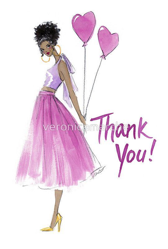 """This Heart's For You"" Thank You Card, at Redbubble. #illustration #fashionillustration #fashion"