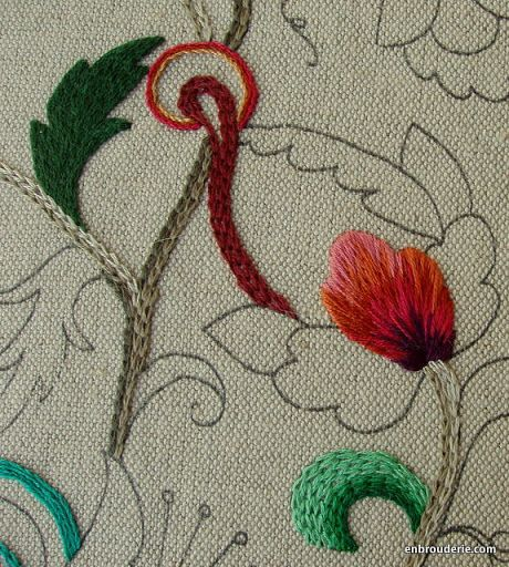 Blending colors in embroidery
