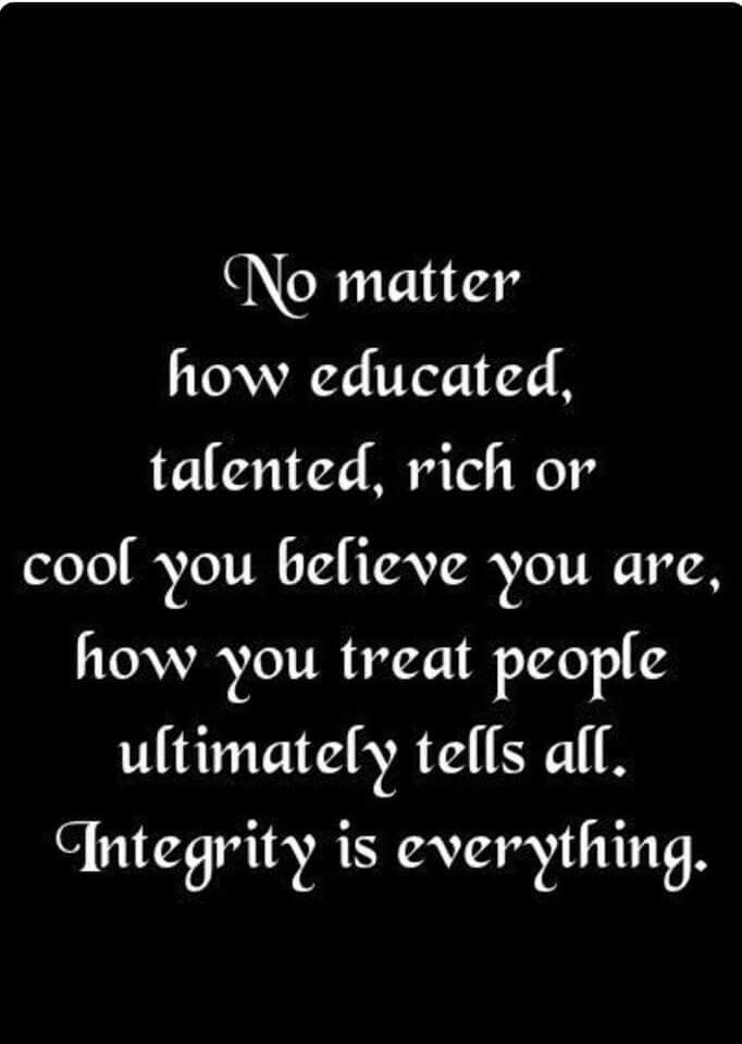 Integrity. It's who you are.