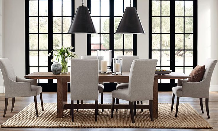 Love the Windows! Transitional Contemporary Neutral | Dining Room | Williams-Sonoma