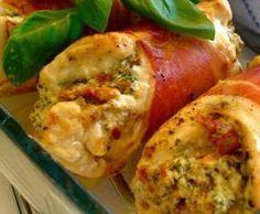 Recette Blanc de poulet farci par montrealaise - recette de la catégorie Viandes