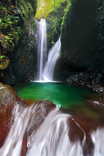 Gitgit Twin Waterfalls and Emerald pool, Bali, Indonesia