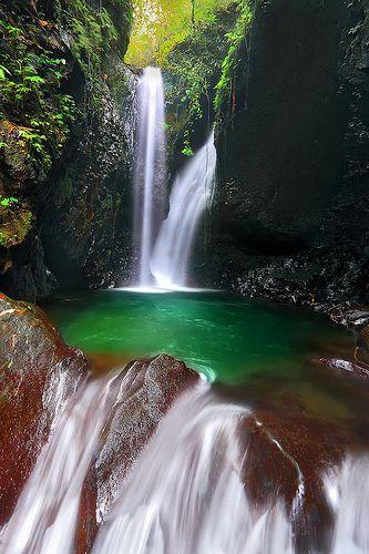 Gitgit Twin Waterfalls and Emerald pool, Bali, Indonesia