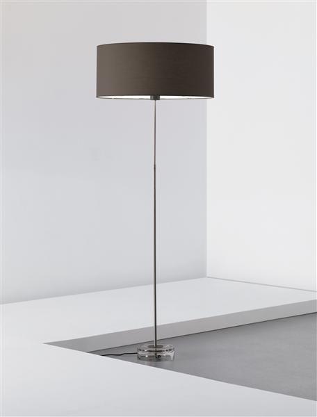 Minimalist orrefors glass floor lamp