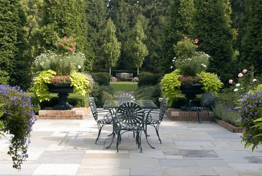 Formal garden of a Georgian estate by Hoerr Schaudt Landscape Architects.