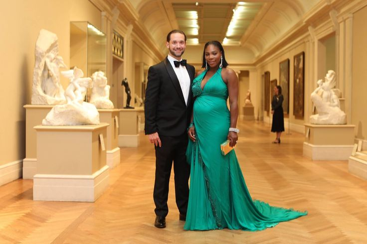 """""""She has the biggest heart.  Everyone sees her success as an athlete, but all of that is layered on the size of her heart.  She gives 100% of herself to everything she does: as a friend, as a lover, and soon, as a mother."""" Serena Williams & fiancé Alexis Ohanian at 2017 Met Ball"""