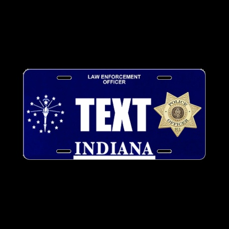 Indiana Police Officer Custom License Plate