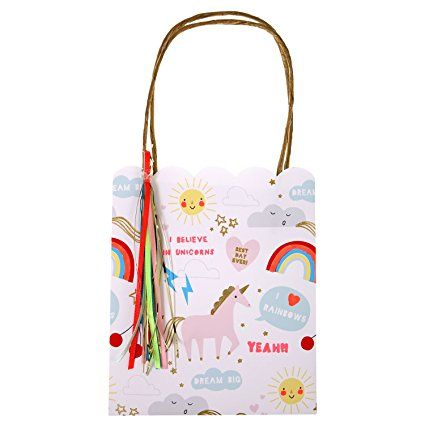 Meri Meri 45-2307 Rainbow/Unicorn Party Bags Novelty