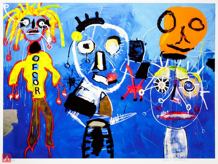 """Paul Kostabi: """"Freyda Said There Would Be Days Like These"""" (2012) is a handsigned & numbered gliclée."""