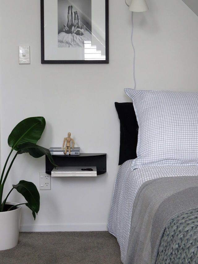 How to style a guest room | My Little House  Bedside shelf by Made of Tomorrow