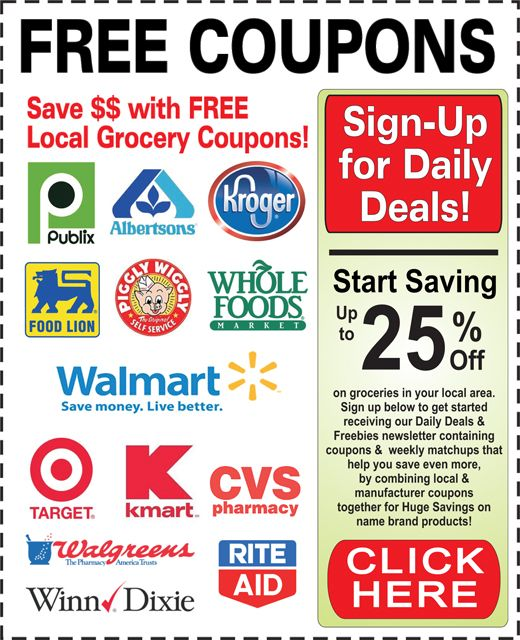 Over 5000 Free Printable Coupons for You to Save Weekly at the Grocery, Drug or SuperStore!