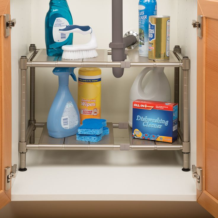 Seville Classics Expandable Sink Shelf with Perforated Panel (Kitchen)