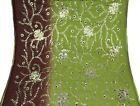 Indian Vintage Dupatta Embroidered Green Scarves Veil Hijab Georgette Sarong  #W…