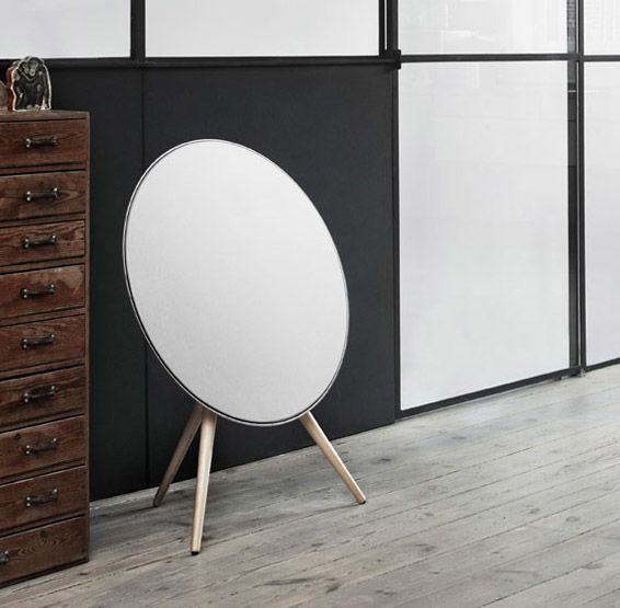 Bang & Olufsen BeoPlay A9 - A 480-watt 3-way speaker system that uses wi-fi, AirPlay, and DLNA networking to pump out high quality audio. Wireless streaming is backed up by USB & Aux ports for plugging in devices of all kinds.