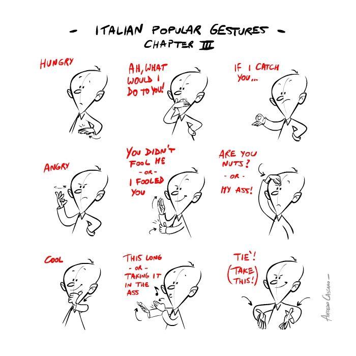 Italian popular gestures Chapter 3