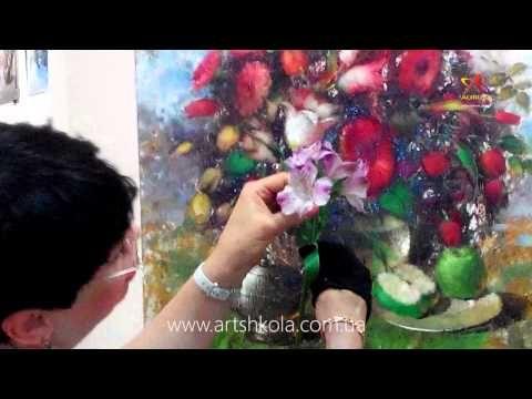 Мастер класс живописи Елены Ильичевой «Весеннее многоцветие» - YouTube