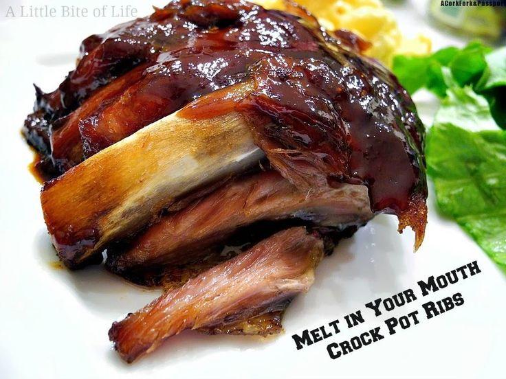 Melt In Your Mouth Crock Pot Ribs   A Cork, Fork, & Passport™