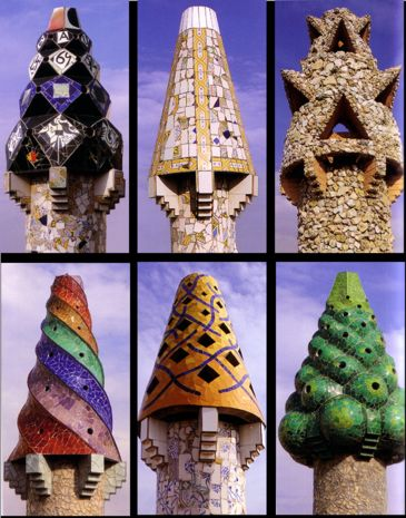 CHIMNEY CAPS - Google Image Result for http://madamepickwickartblog.com/wp-content/uploads/2011/02/gaudi2.png