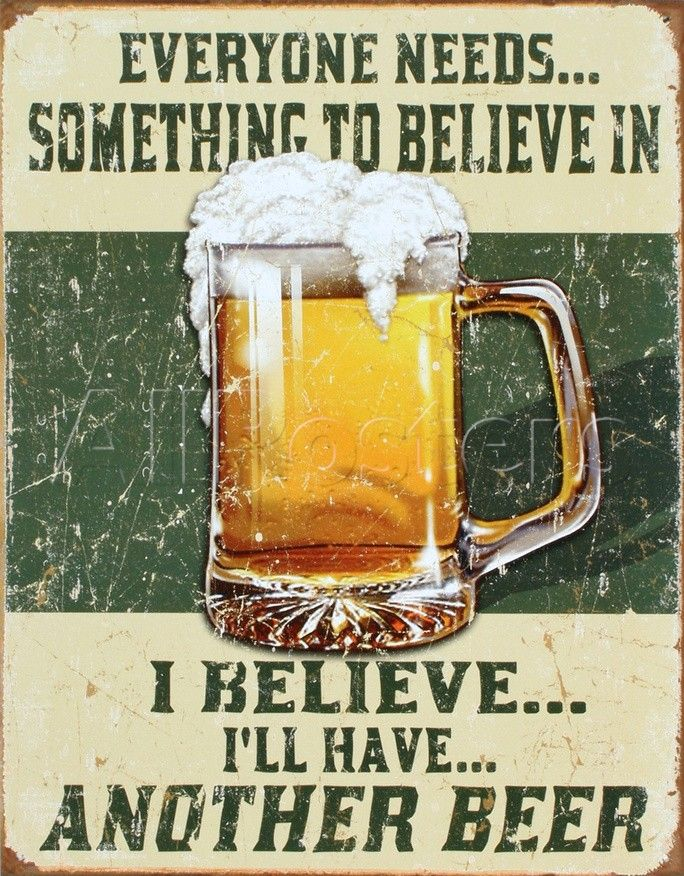 I Believe I'll Have Another Beer Placa de lata na AllPosters.com.br