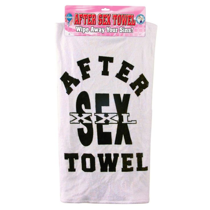 Never mix up the face towel with the sex towel again with this handy cotton towel designed for good clean fun.