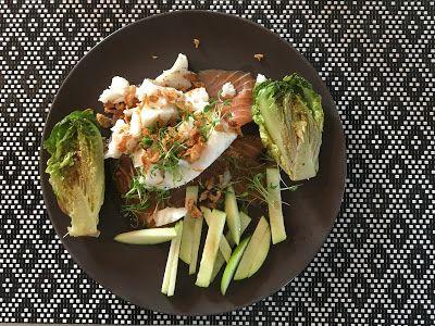 Mes Repas Sains & Equilibrés : Cabillaud au saumon fumé et laitue braisée