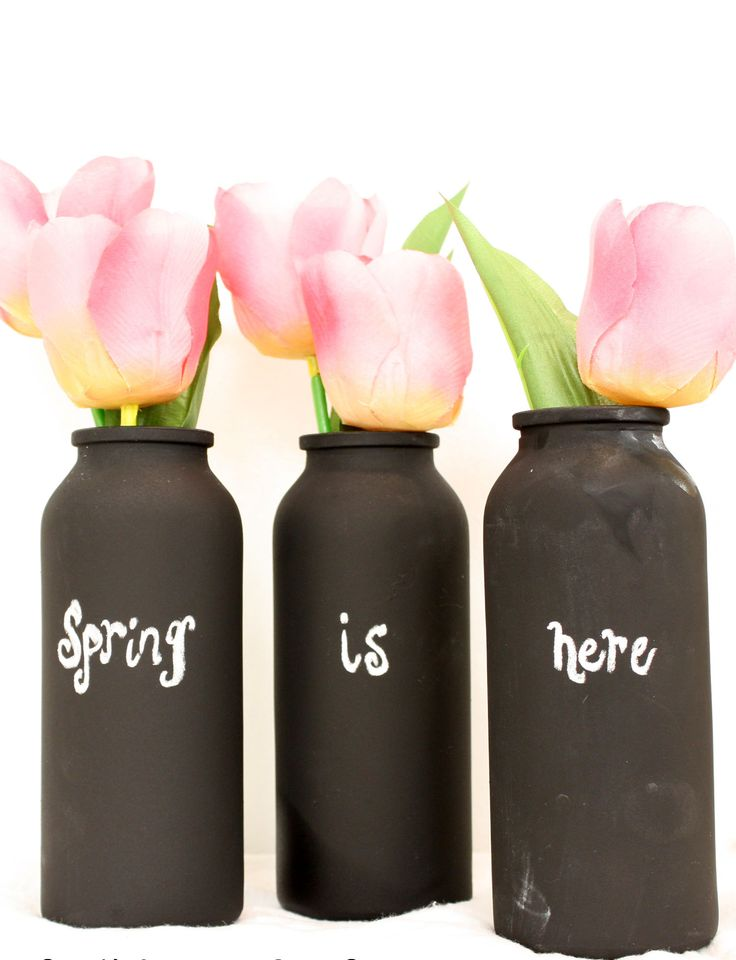 How to #Celebrate #Spring with Chalkboard China. #decor #design #chalk #flowers #vase