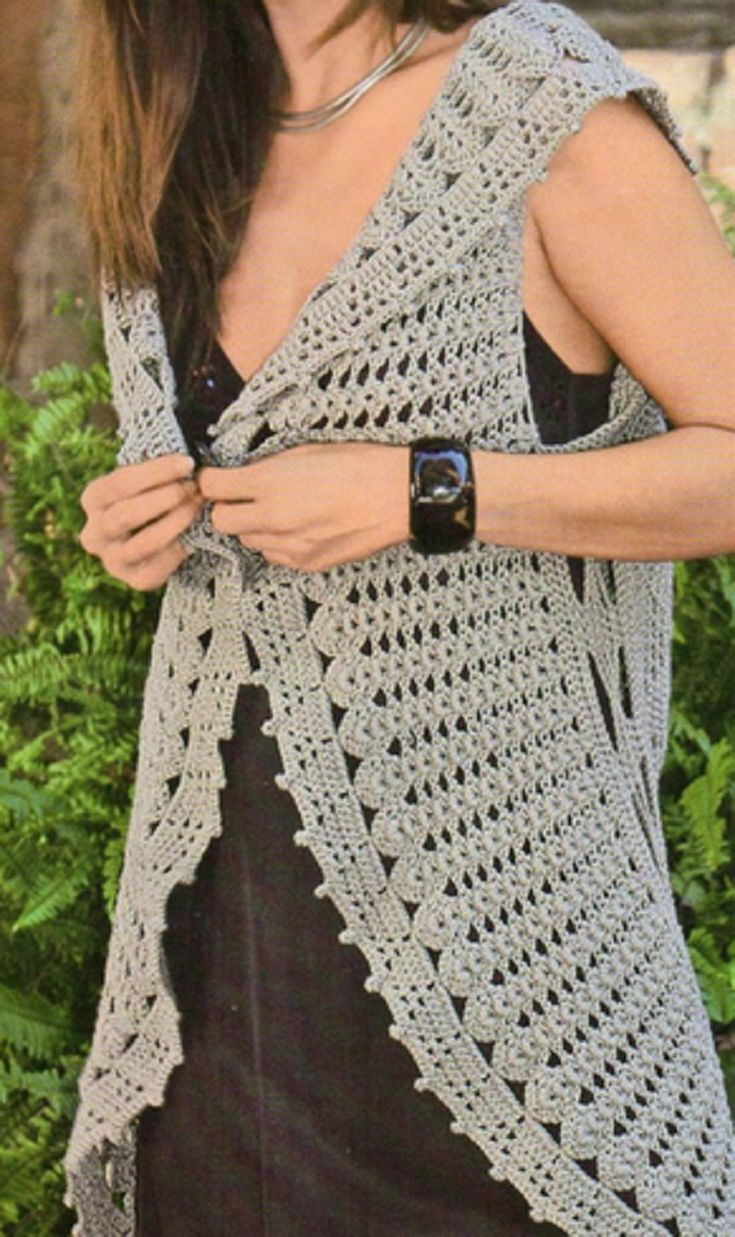 Crochet Vest Patterns For Beginners : 25+ best ideas about Crochet Vests on Pinterest Beginner ...