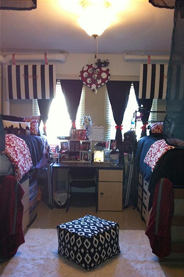 One of the prettiest dorms ever...and i love the storage under the bed