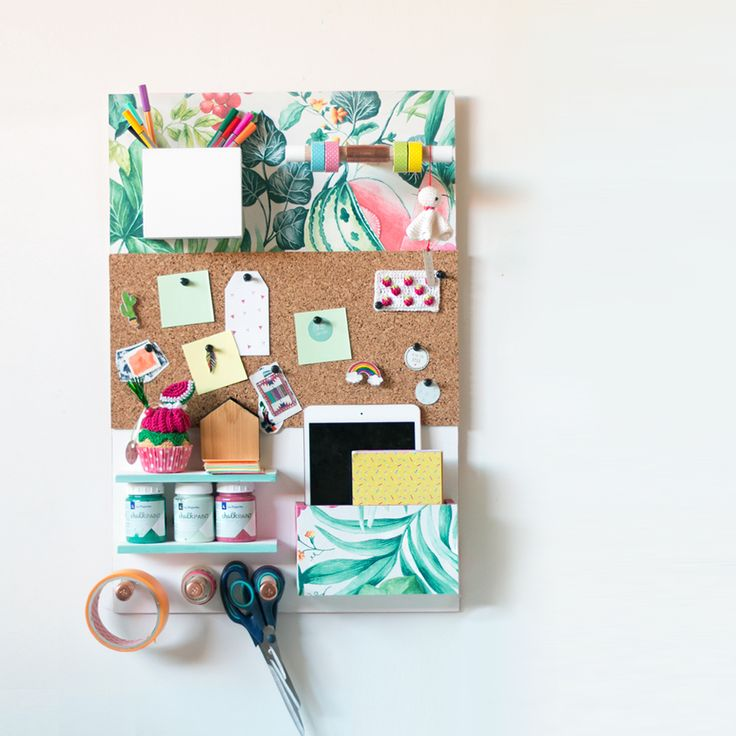 "DIY: Organizador de pared, visto en ""I am a Mess Blog"""
