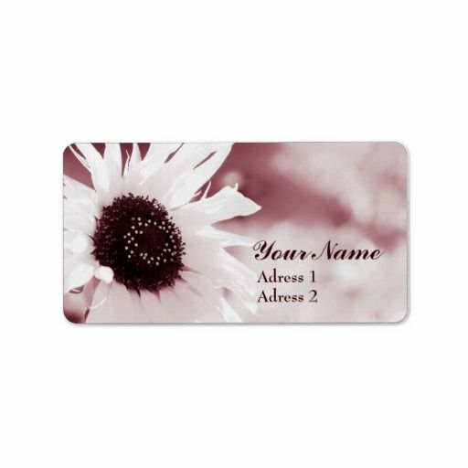 Vintage Sunflower - Adress Label