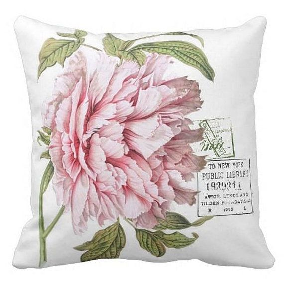 Pillow Cover Floral Spring Rose by JolieMarche on Etsy