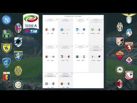 Serie A Matchday 11 Results, Table, Stats. Fixtures for MD 12 | Serie A ...