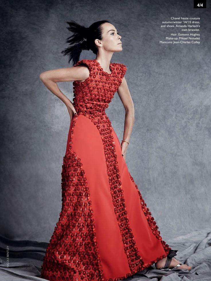 Amanda Harlech by Nicole Bentley - Chanel - red dress - 2014