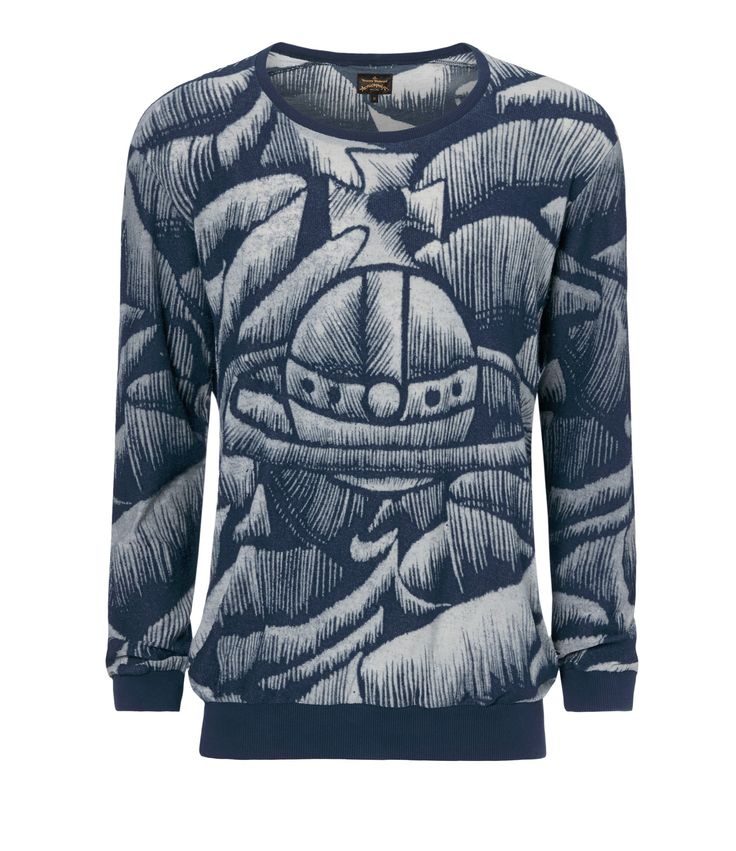 Vivienne Westwood Anglomania Blue Easy Sweater