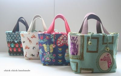 chick chick sewing: Japanese Style Bento Lunch Bags Made for My Shop  ランチバッグをハンドメイド
