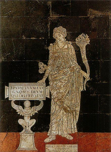 Sybilla Delphica. Serie della Sibille (1482-1483), Pavimento del Duomo di Siena