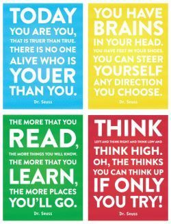 Download our free Dr. Seuss quotes printable page. Share them with friends, put them on your fridge, keep them wherever you want!