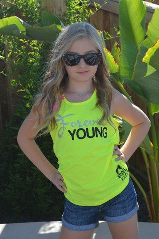 Forever Young - Girl's Clothing - Forever Young Tank - Glitter - Ruffl – Ruffles with Love