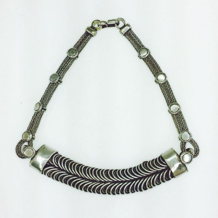 Vintage silver tribal collar