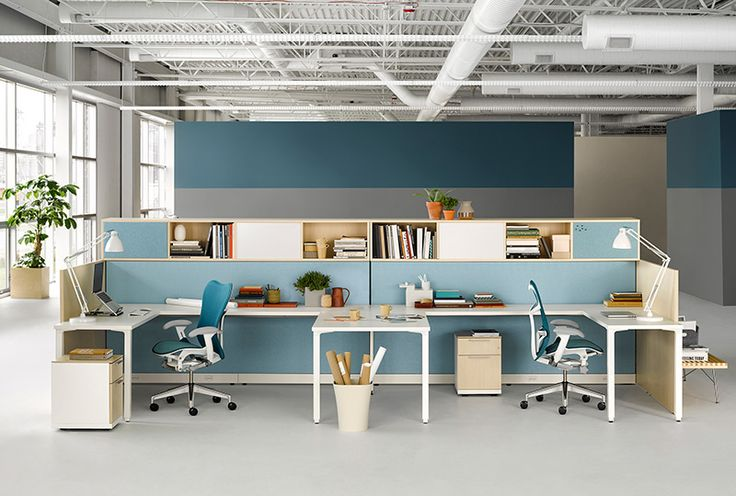 Canvas Office Landscape   Office Furniture System   Small And Medium  Business   Herman Miller | Idee Bureau | Pinterest | Herman Miller, Office  Furniture ...