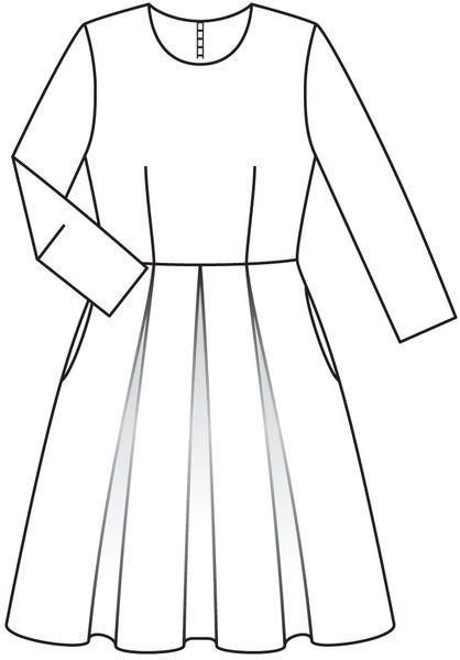 Sukienka z pudełkiem plisą - numer wzorca 121 Magazine 11/2012 Burda - wzory na sukienki Burdastyle.ru