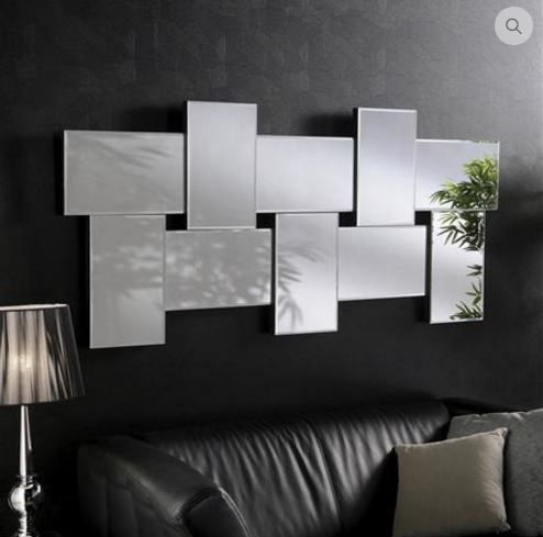 Espelho decorativo ideal para ser colocado em cima do sofá de sua sala. Veja…