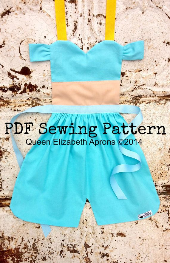 JASMINE Aladdin PDF Sewing PATTERN. Disney por QueenElizabethAprons