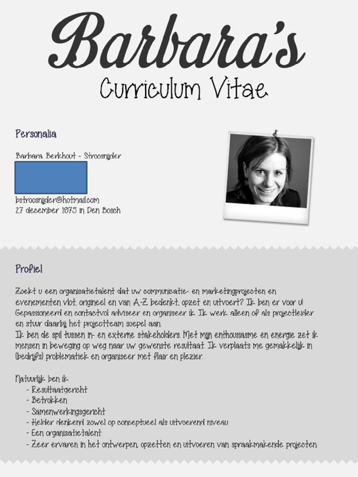 10 best Cv van de Maand images on Pinterest | Curriculum, Resume