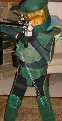 Homemade Halo Halloween Costume: My son thought it would be cool to have a Halo Halloween costume.  After much searching on the internet, I found some helpful advice on Youtube...